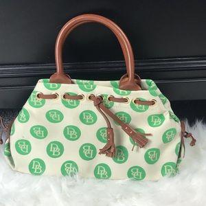 Dooney and Bourke Green Canvas Logo Handbag Purse